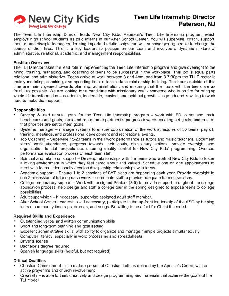thumbnail of TLI Director Paterson Job Description
