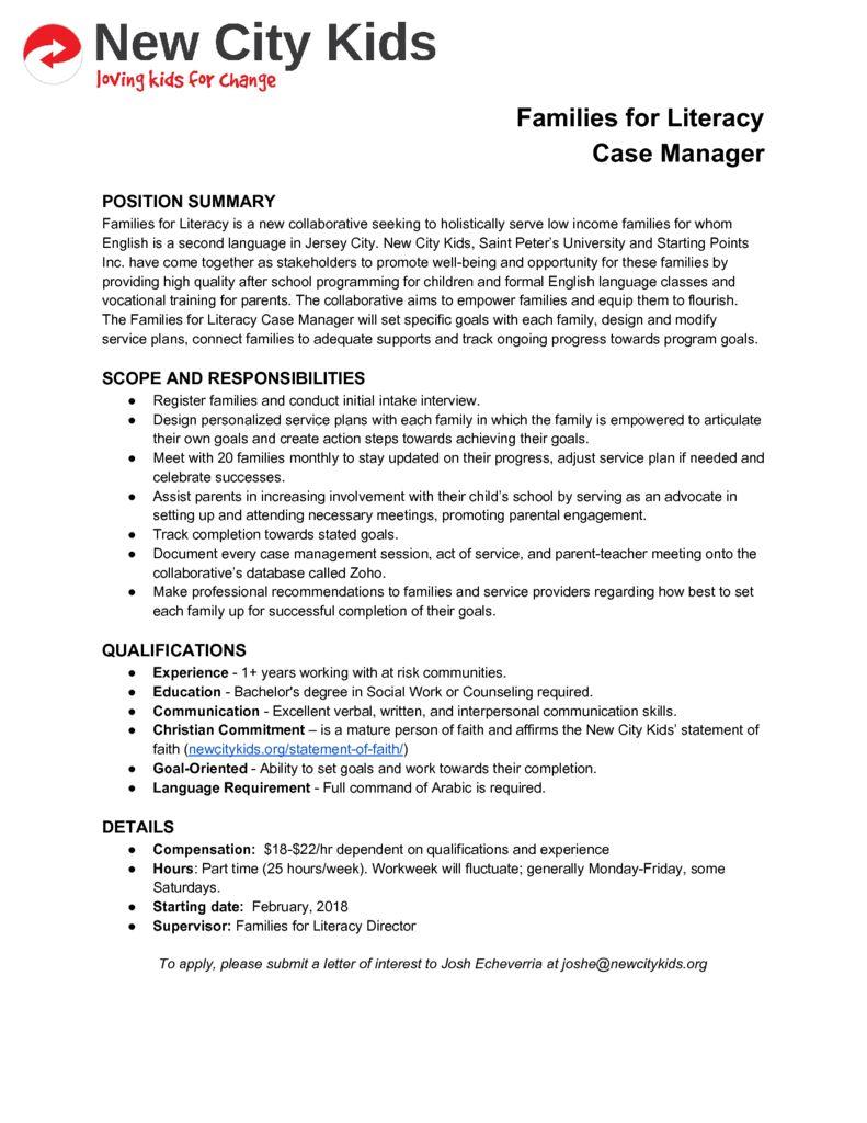 thumbnail of FFL Case Manager Job Description